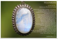 Moonstone...this is my absolute favorite stone.