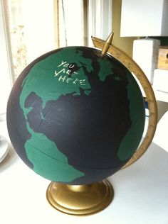 love this idea. I have an old globe that I want to do this to.