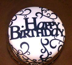 Elegant Birthday Cake by DolceTreat, via Flickr