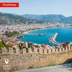 Take a #LazySunday stroll along the castle walls of Alanya, basking in the springtime sun and checking out the magnificent town and sea below.