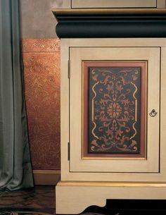 Stenciled Cabinet Doors | Eastern Panel Stencil | Royal Design Studio