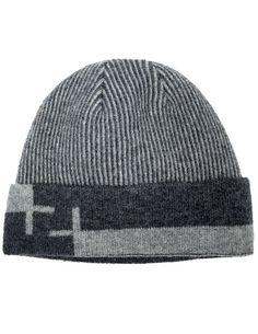 Dahlia Men s Cable Wool Blend Beanie Hat - Soft  amp  Warm Velour Lined -  Dark 73fe485ea8b