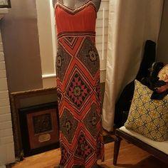 Print maxi dress Cato maxi dress with adjustable straps and elastic around back. Cato Dresses Maxi