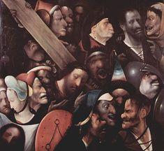 Cristo con la Cruz cuestas. Como el resto de la obra de Hieronymus Bosch, la datación es incierta. Algunos autores hablan de los años 1503-1504, otros lo retrasan a 1515-1516; Carrassat indica entre 1510 y 1516, que es la fecha de la muerte del pintor. No hay acuerdo en que sea una obra autógrafa del Bosco. En el catálogo de la exposición retrospectiva de 2001 se hablaba de un imitador y se databa en 1510-1535.