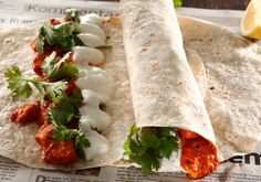 Buttered Chicken Wraps recipe by Shireen Hassim Shaik posted on 21 Jan 2017 . Recipe has a rating of by 4 members and the recipe belongs in the Sandwiches & Breads recipes category Chicken Wrap Recipes, Chicken Wraps, Sandwich Bread Recipes, Vegetable Puree, Gluten Free Chicken, Food Categories, Butter Chicken, Grilled Chicken, Fresh Rolls