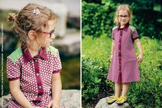 Wir habendas passende Outfit für kleine Ladys: Mit der tollen Anleitung von Lieve Marien aus Antwerpen kannst du ein bequem-schickes Polokleid für deine Tochter oder andere Mädels nähen. Der passende Stoff kommt lillestoff.