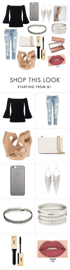 """""""Simple look"""" by hannahboonana22 ❤ liked on Polyvore featuring Jessica Simpson, Tory Burch, Native Union, Jules Smith, Charlotte Russe, Urban Decay and Smashbox"""