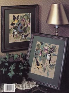 Spring-Visitors-Leisure-Arts-Plastic-Canvas-Pattern-Booklet-1448-Wall-Hangings