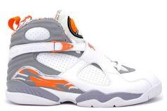 9b5bf987db37 Big Retro 8 (white stealth orange blaze silver) Size 15 S. Buy JordansCheap JordansJordans  SneakersJordan ...