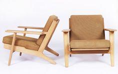 Hans Wegner easy chairs. (1953)