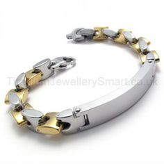 Fashion Mens Titanium ID Bracelet 20026