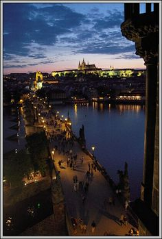 Prague Castle with Charles Bridge Prague Photos, Charles Bridge, Prague Castle, Photography Tours, Walking Tour, Czech Republic, Walks, Photographers, Night