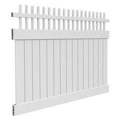 CANTERBURY  Clear 6x8 Canterbury Open Top Fence Kit Works with pre-routed 5×5 posts; line, corner, end Rackable up to 8-in in height over 8-ft of sloped terrain GrippLock™, barbed rail system distributes weight evenly across the entire fence to eliminate sag Fence kit; assembly required Made of heavy-duty, low-maintenance vinyl construction