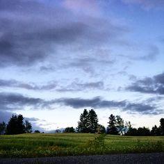 Beautiful summer night. #quebec #canada #seenonmyrun #runningfree #landscape #runner #sky