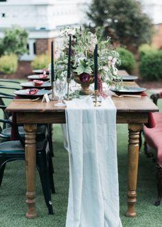 Romantic Chiffon Table Runner