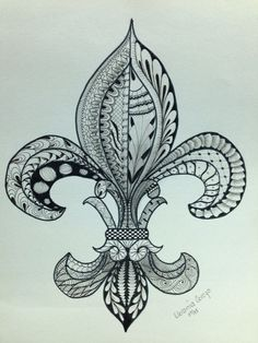 Flor de Lis, zentangle
