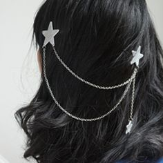 Make cute jewelry for your hair with this easy star hair chain tutorial.