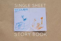Bloesem Kids | Travel craft projects: Single sheet paper story book DIY by Anouk van der El of Make History