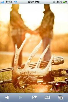 "Antler ""save the date""... i'd love to meet this couple!!"