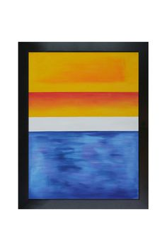 Mark Rothko Yellow, Red, Blue, Hand Painted Oil On Canvas