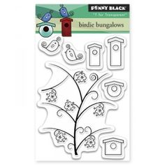 Penny Black Clear Stamps Mini - Birdie Bungalows