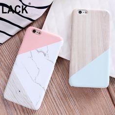 Caso mate para el caso de iphone 6 lujo moda empalme contraste juntos color de mármol cubierta para iphone 6 s 6 más casos de teléfono nuevo
