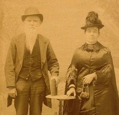 Stern Looking Couple Antique Studio Cabinet Card by BallyDingRevue, $32.00
