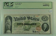 US Bill 1862 $5 Legal Tender Note - FR. 61a. PCGS Certified