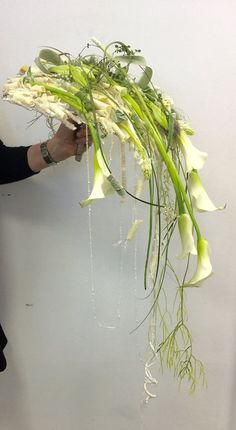 Cascading Wedding Bouquets, Cascade Bouquet, Bridal Flowers, Flower Bouquet Wedding, Bridesmaid Bouquet, Floral Wedding, Gregor Lersch, Flower Games, Calla