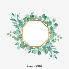 Leaf Flowers, Green Flowers, Feuille Eucalyptus, Leaf Clipart, Leaf Border, Eucalyptus Leaves, Watercolor Leaves, Wedding Frames, Green Backgrounds