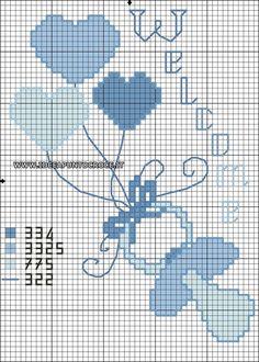 Risultati immagini per pinterest schemi punto croce bimbo piccolo