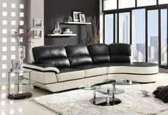 Very high quality LEATHER Sectional Sofa with pocketed coils in the seats for luxuriously soft comfort. Back cushions are extra tall for great support, much better than average sofa. Comes in two...