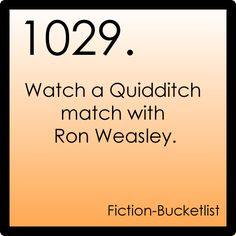 Fiction Bucket list: Harry Potter