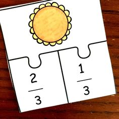 Adding fractions can be confusing for some students. Help them by modeling addition of fractions with these free pie puzzles. Addition Of Fractions, Adding And Subtracting Fractions, Primary School, Games For Kids, Puzzles, Crafts For Kids, Teaching, Education, Model