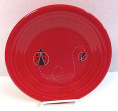 Fiesta® Dinnerware Ladybug 9\  Luncheon Plate made by Homer Laughlin China Company. Limited & Fiesta® Dinnerware LADYBUG Collection made exclusively for Dillard\u0027s ...