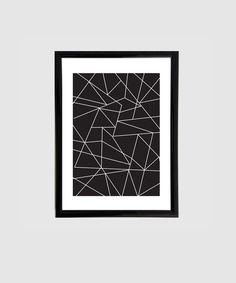 A4 - Druck grafisches Muster, schwarz und weiß // black and white, geometric print by lace & stripes via DaWanda.com
