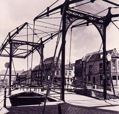 De korte haven brug,  richting de Oude Sluis. Schiedam