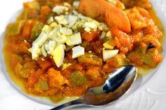 Alboronía, plato típico de Carmona