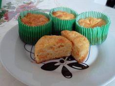 Bolinho de cenoura com queijo (cupcake salgado) - Tudo Gostoso