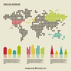 World map by dots and lines coreldraw vector graphics and world map infographic gumiabroncs