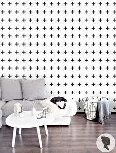 Via Livettes | Self Adhesive Cross Pattern Removable Wallpaper