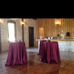 Way linen will be on rented 36 inch cocktail tables