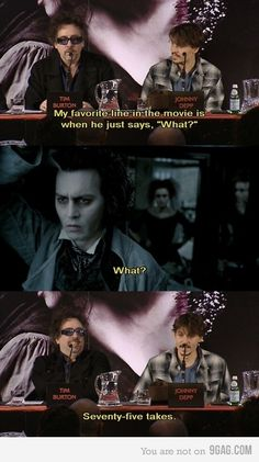 Always the comedian during press conferences - Johnny Depp