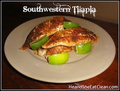 Did you know that Whole Foodshas a recipe app? We have tried a lot of  their recipes & hope to share more of them with you soon but this is one of  our favorites! This is the only way that Scott will eat tilapia!  Ingredients:  4 (6 - ounce fillets)  2 tbsp olive oil  1 tsp garlic powder  1 tsp chili powder  1 tsp salt  1/2 tsp black pepper  1/4 tsp cayenne pepper  1 lime    Directions:  1. Preheat oven to 450 degrees.  2. In a small bowl mix spices together.  3. Drizzle each fillet…