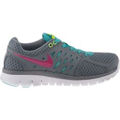 Love my Nike's ----Nike Women's Flex 2013 Running Shoes - these look almost just like mine! Gray with blue and hot pink