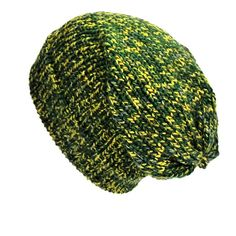 Green bohemian grunge classic style unisex slouchy beanie hat. Hand-woven on fa1c8ec708f