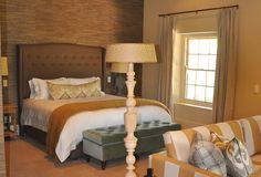 Villa in Franchhoek - for Sarah Ord Interiors Catering Ideas, Beautiful Bedrooms, New Work, Bedroom Ideas, Villa, Interiors, Furniture, Design, Home Decor