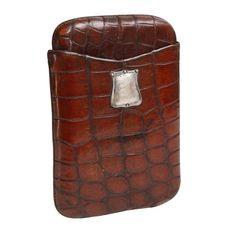 Crocodile Leather Traveling Cigar Holder