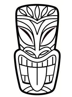 DIY totem Koh Lanta: simple and original ideas Luau Theme Party, Tiki Party, Hawaiian Tiki, Hawaiian Theme, Totems, Totem Koh Lanta, Totem Tiki, Inka Tattoo, Tiki Man