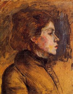Woman s Head - Henri de Toulouse-Lautrec: : Post-Impressionism Henri De Toulouse Lautrec, Georges Seurat, Edouard Vuillard, Camille Pissarro, Edgar Degas, Paul Gauguin, Impressionist Art, Art Themes, Claude Monet